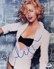 CHARLIZE THERON SIGNED AUTOGRAPHED 8x10 PHOTO VERY CUTE PSA/DNA