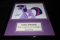 Tara Strong Signed Framed 11x14 Photo Display AW Rainbow Brite Twilight Sparkle
