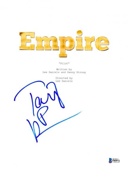 Taraji P Henson Signed Empire Pilot Episode Script Beckett Bas Autograph Auto