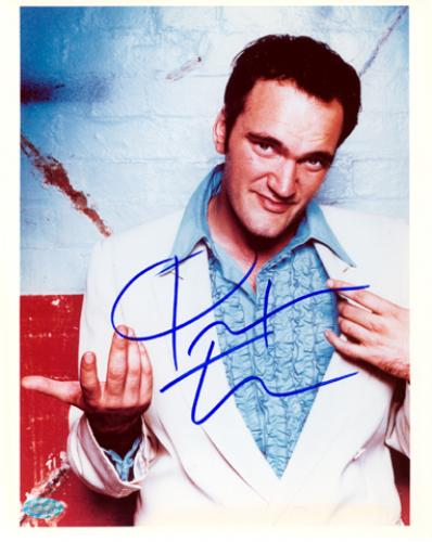 TARENTINO, QUENTIN AUTO (WHITE JACKET) 8x10 PHOTO