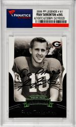 "TARKENTON, FRAN AUTO ""GO DAWGS!"" (2006 PP LEGENDS # 61) CARD - Mounted Memories"