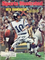 "Fran Tarkenton Autographed Sports Illustrated Magazine ""HOF 86"""