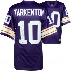 Fran Tarkenton Minnesota Vikings Autographed Proline Purple Jersey with HOF 86 Inscription - Mounted Memories