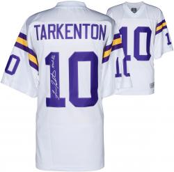 Fran Tarkenton Minnesota Vikings Autographed White Jersey with HOF 86 Inscription