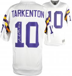 Fran Tarkenton Minnesota Vikings Autographed Proline White Jersey with HOF 86 Inscription - Mounted Memories