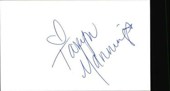 """TARYN MANNING ORANGE IS THE NEW BLACK Signed 3""""x5"""" Index Card"""