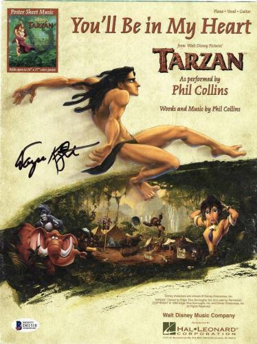 Tarzan Wayne Knight Signed Sheet Music Newman Seinfeld Beckett BAS