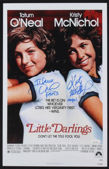 "TATUM O'NEAL & KRISTY MCNICHOL AUTOGRAPHED 11x17 ""DARLINGS"" MOVIE POSTER - JSA!"