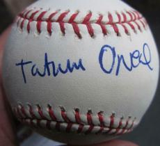Tatum O'Neal Single Signed MLB Baseball Ball PSA/DNA Bad News Bears inscription