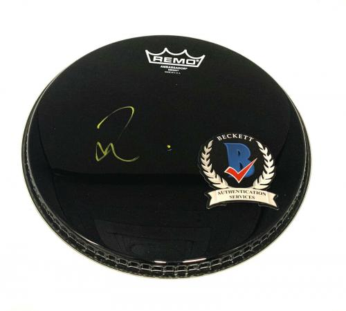 Taylor Hawkins Signed Autograph Foo Fighters Drumhead Beckett Bas 2