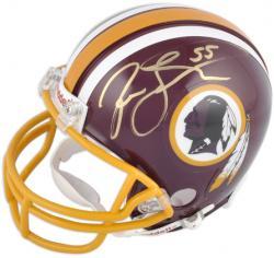Washington Redskins Jason Taylor Signed Mini Helmet
