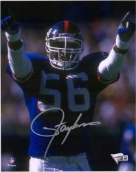 "Lawrence Taylor New York Giants Autographed 8"" x 10"" Hands Pointed Photograph"