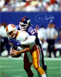 Lawrence Taylor New York Giants Autographed 16'' x 20'' QB Sack Photograph - Mounted Memories