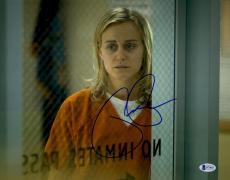 "Taylor Schilling Autographed 11"" x 14"" Orange is The New Black Chapman Watching Through Window Photograph - Beckett COA"