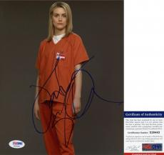 Taylor Schilling Signed 8x10 Orange Is the New Black Piper The Lucky One PSA/DNA