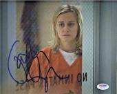 TAYLOR SCHILLING SIGNED 8x10 PHOTO PIPER CHAPMAN ORANGE IS THE NEW BLACK PSA/DNA