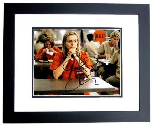 Taylor Schilling Signed - Autographed Orange is the New Black 8x10 inch Photo as Piper Chapman - BLACK CUSTOM FRAME - Guaranteed to pass PSA or JSA