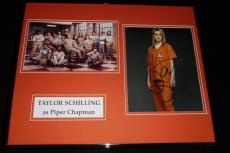 Taylor Schilling Signed Framed 16x20 Photo Set Orange is the New Black