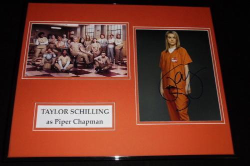 Taylor Schilling Signed Framed 16x20 Photo Set Orange is the New Black