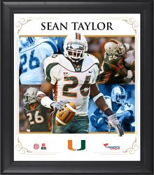 "Sean Taylor Miami Hurricanes Framed 15"" x 17"" Core Composite Photograph"