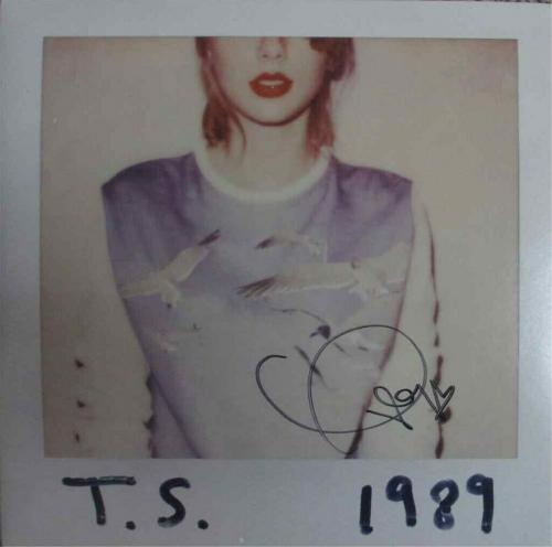 Taylor Swift 1989 Autographed Signed Album LP Record Certified Authentic JSA COA