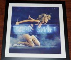 "TAYLOR SWIFT  1989 Live Neon Litho Framed & Signed Autographed 22"" X 22"