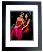 Taylor Swift and Selena Gomez Signed - Autographed Singer - Songwriter 11x14 inch Photo BLACK CUSTOM FRAME - Guaranteed to pass PSA or JSA