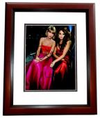 Taylor Swift and Selena Gomez Signed - Autographed Singer - Songwriter 11x14 inch Photo MAHOGANY CUSTOM FRAME - Guaranteed to pass PSA or JSA