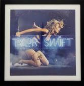 Taylor Swift Autographed 22x22 1989 Lithograph Framed Photo JSA FULL Letter
