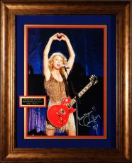 Taylor Swift Autographed Concert 16x20 Photo Framed