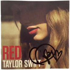 Taylor Swift Signed Autographed Red Album CD Cover PSA