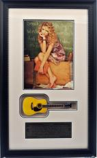 Taylor Swift Framed Photo with Mini Guitar