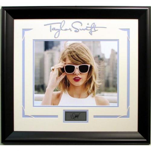 Taylor Swift Framed Laser Signature
