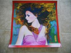Taylor Swift & Peter Max Dual Signed Autographed Fearless Poster Psa Guaranteed