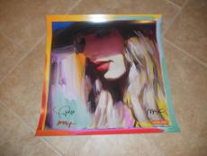 Taylor Swift & Peter Max Dual Signed Autographed Red Poster Psa Guaranteed