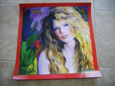 Taylor Swift & Peter Max Dual Signed Autographed Taylor Poster Psa Guaranteed