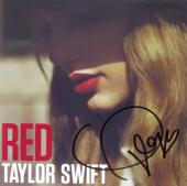 Taylor Swift Signed Autographed Red Album CD Cover Beckett BAS