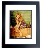 Taylor Swift Signed - Autographed Sexy Pop Singer Songwriter 8x10 inch Photo BLACK CUSTOM FRAME - Guaranteed to pass PSA or JSA