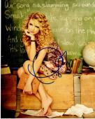 Taylor Swift Signed - Autographed Sexy Pop Singer Songwriter 8x10 inch Photo - Guaranteed to pass PSA or JSA