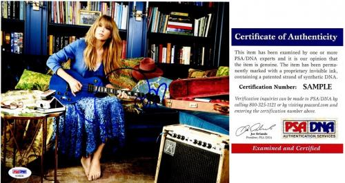 Taylor Swift Signed - Autographed Sexy Pop Singer Songwriter 8x10 inch Photo - PSA/DNA Certificate of Authenticity (COA)