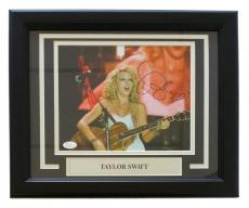 Taylor Swift Signed Framed 8x10 In Concert Photo JSA