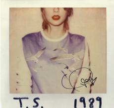Taylor Swift Signed T.S. 1989 Album Cover AFTAL UACC RD COA
