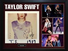 Taylor Swift Signed T.S. 1989 Album Cover Display Case AFTAL UACC RD COA