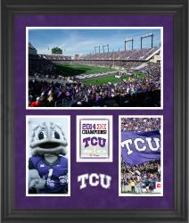 """TCU Horned Frogs 2014 Big 12 Football Champions Framed 20"""" x 24"""" Collage"""