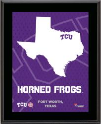 "TCU Horned Frogs Sublimated 10.5"" x 13"" State Plaque"