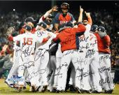 """Boston Red Sox 2013 World Series Champions Team Autographed 16"""" x 20"""" Photograph with 20 Signatures"""
