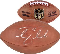 New York Jets Tim Tebow Autographed Duke Pro Football - Mounted Memories