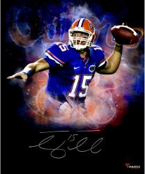 Tim Tebow Florida Gators Framed Autographed 20'' x 24'' In Focus Photograph