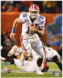 "Tim Tebow Florida Gators Autographed 16"" x 20"" Running Photograph - Mounted Memories"
