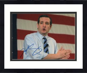 Ted Cruz Signed Autograph 8x10 Photo - Texas Senator, Donald Trump, 2020, 2016